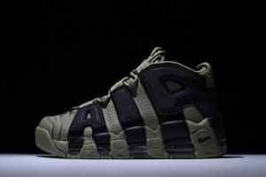 7b45e791f8a5 Nike Air More Uptempo Army Green Black 921948 030 Mens Running Shoes ...