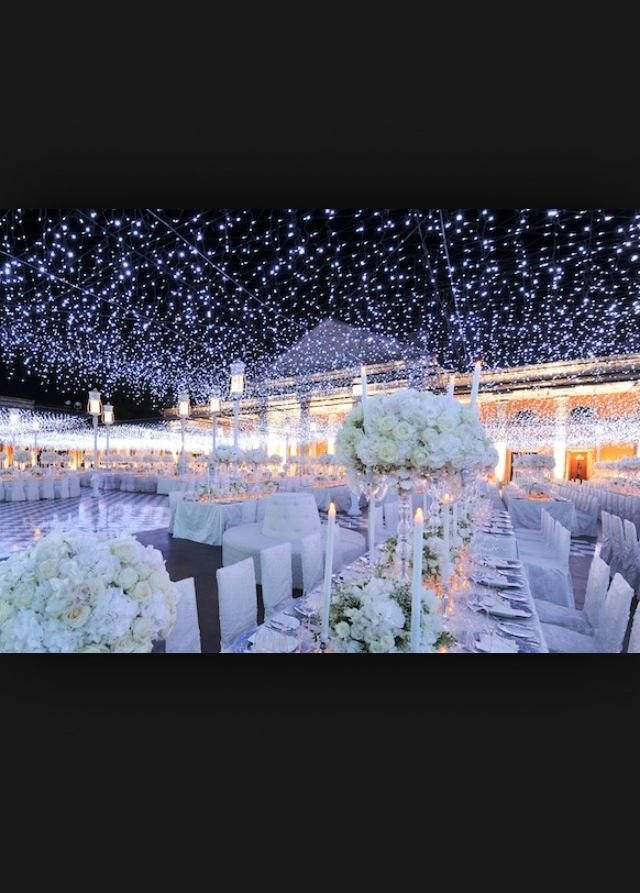 Beautiful lights for outdoor wedding or just any party ! - California Weddings: http://www.pinterest.com/fresnoweddings/