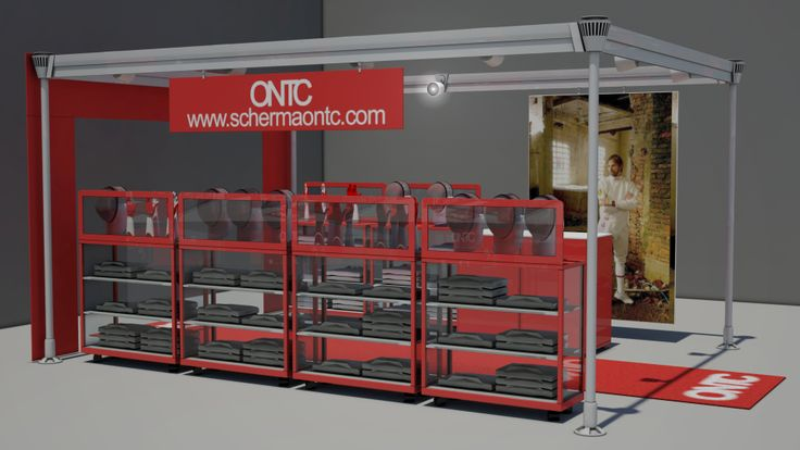 Mobile Showroom project: renderings.