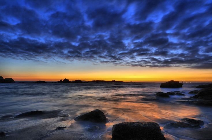 Sunset at San Vicente do Grove, Pontevedra - Spain