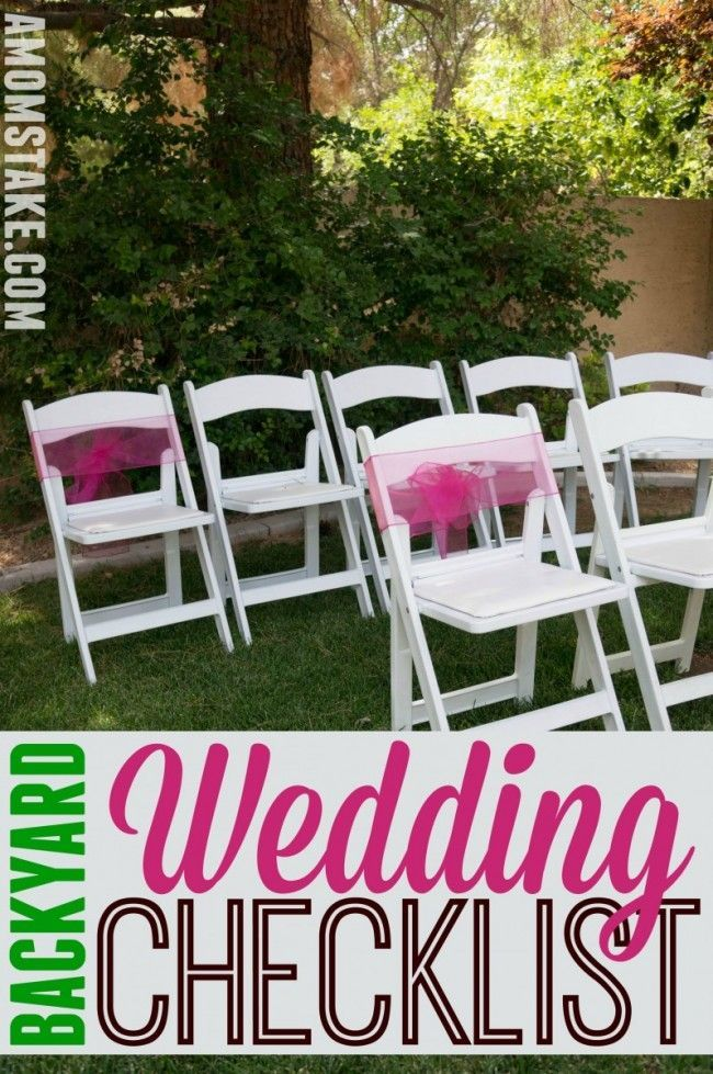 A helpful checklist for planning your backyard wedding! Make sure you have everything you need for the bride, backyard, and guests.
