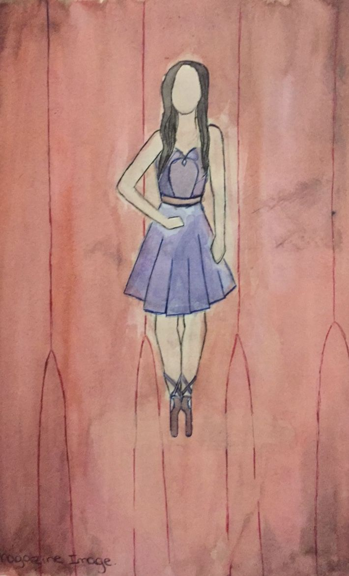 """""""Ballerina"""". Water colour and ink. 2016"""