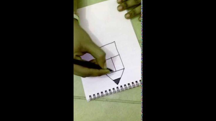 How to make a Pencil Using Alphabet E