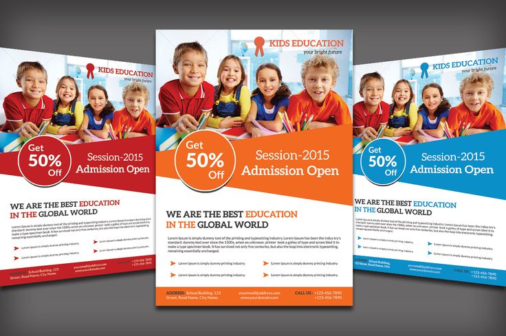 School Education Flyer by Design Master on @creativemarket