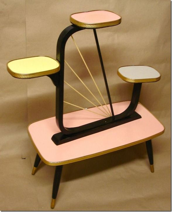 Vintage Mid Century Modern Atomic Plant Stand