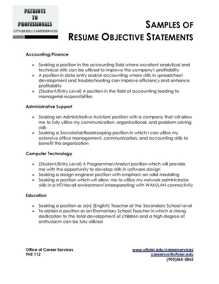Best 25+ Good resume objectives ideas on Pinterest Career - examples of objective statements for resume