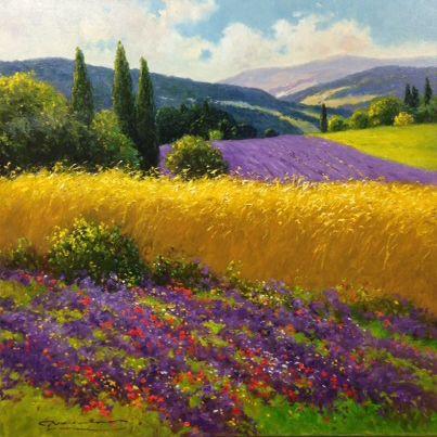 """""""Wheatfields & Mountains, GERHARD NESVADBA"""
