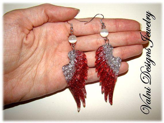 Boucles d'oreilles Ailes d'ange Translucide par ValniDesignsJewelry