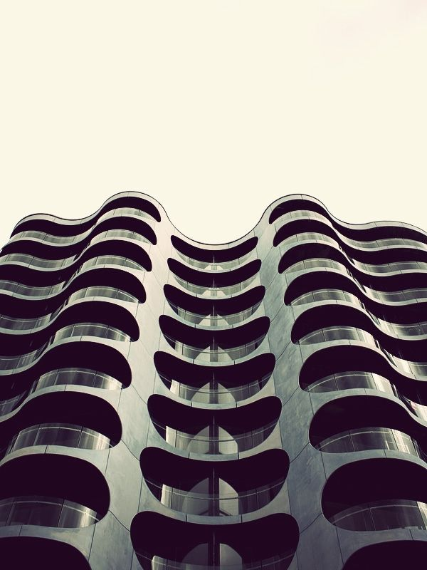 Undulating building.