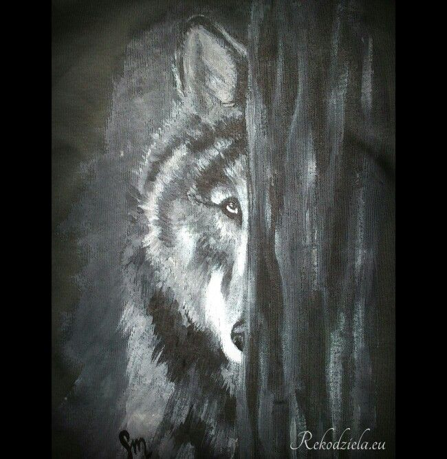#wolf #wilk #handpainted #tanktop #rekodzielaeu #koszulka #nature #zamow #modakobieca