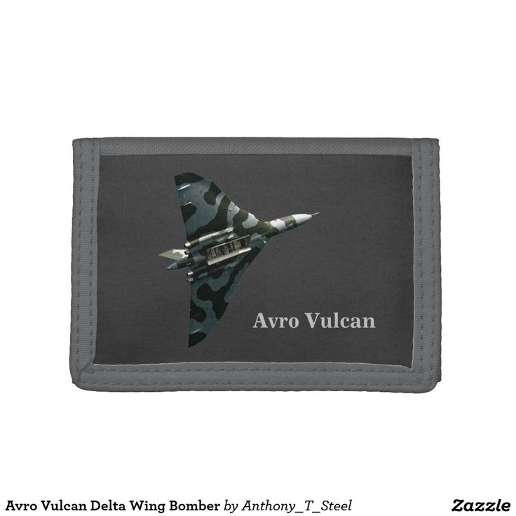 Avro Vulcan Delta Wing Bomber Tri-fold Wallets The Avro Vulcan Delta Wing Strategic Bomber against a blue sky, with the bomb bay open.