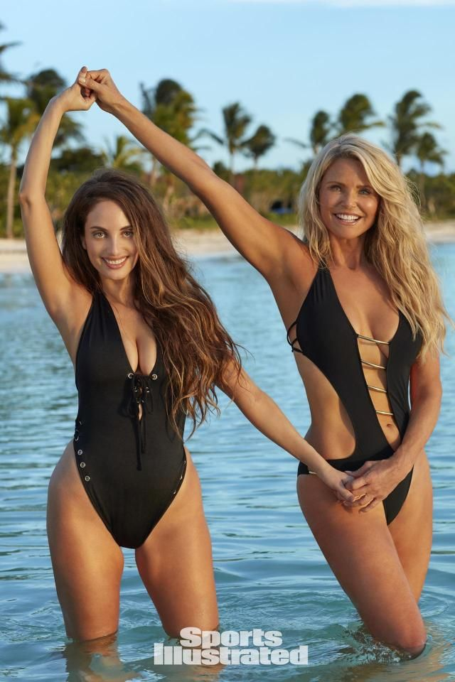 Flattering Swimwear & Bathing Suit Trends For Summer 2017 : One-Pieces Metallics, Monokinis, Straps, Cut-Outs, Netting, and Neon! Christie Brinkley, Alexa Joel and more!