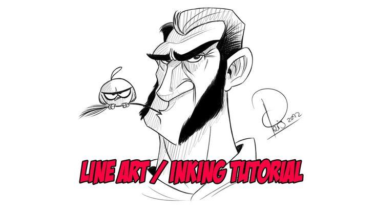 Autodesk Sketchbook Pro : Line Art & Inking Tutorial ★ Find more at http://www.pinterest.com/competing/