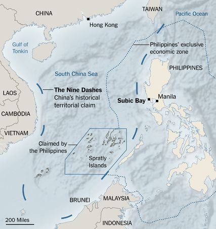 Warily Eyeing China, Philippines May Invite U.S. Back to Subic Bay - The New York Times
