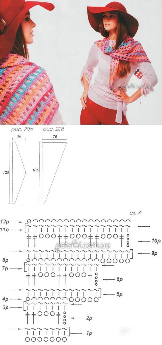 Тунисское вязание. Бактус крючком. Описание, схемы вязания