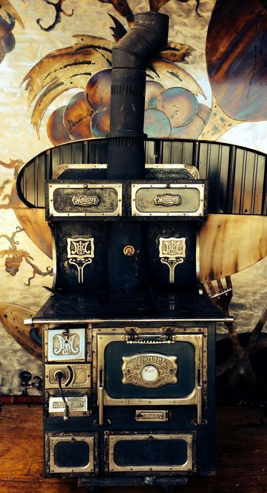 ANTIQUE MONARCH WOOD BURNING COOK STOVE CAST IRON #MONARCH US $6,900.00 eBay