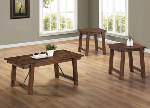3-pc-Rustic-Pecan-Solid-Wood-Country-Transitional-Coffee-Table-Set