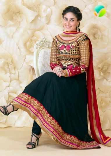 Black Colored Georgette Full Sleeve Semi Stitched Top and Same Colored Bizzy Lizzy Cotton Pant with Red Colored Chiffon Dupatta. http://www.shreedevitextile.com/women/salwars/unstitched-salwar/shree-devi/black-georgette-unstitched-salwar--9243