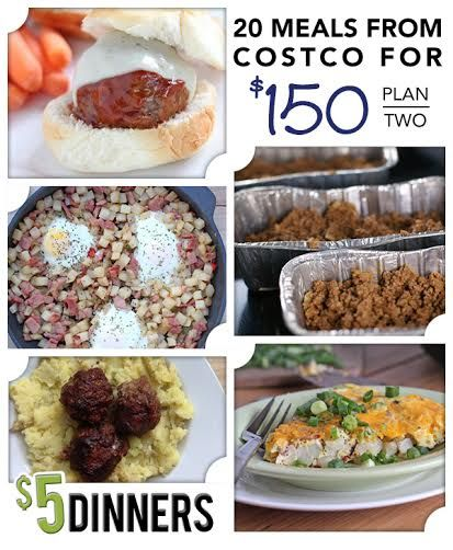 20 Meals at Costco for $150 Meal Plan #2 with Printables   5DollarDinners.com