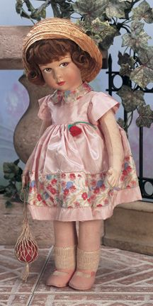 Theriault's Antique Doll Auctions - An All-Original French Cloth Character Girl by Raynal