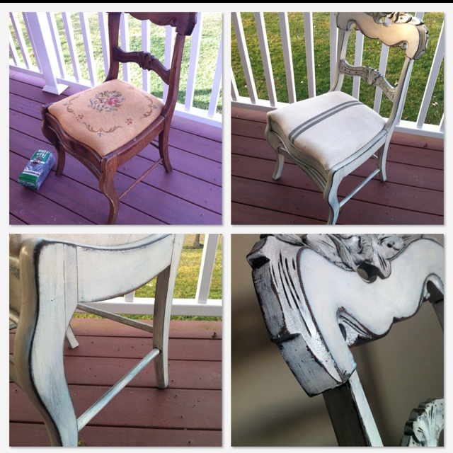 1. Rustoleum Painters Touch spray paint in Aqua (used as a base color). 2. Once base color is dry, Rustoleum Painters Touch spray paint in Heirloom White Satin   3. Wait at least 6 hrs, then using a fine grit sanding block, sand the edges, corners, etc.