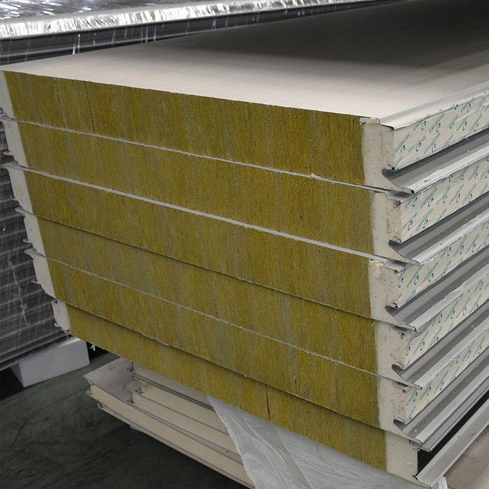 Fireproof Fiber Cement Wall Sandwich Panel Rockwool Sandwich Panels Thailand With Cheap Price Exterior Wall Panels Cement Walls Metal Panels