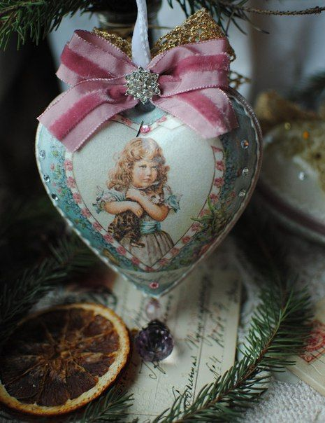 17 Best Images About Heart Shaped Christmas Ornaments On