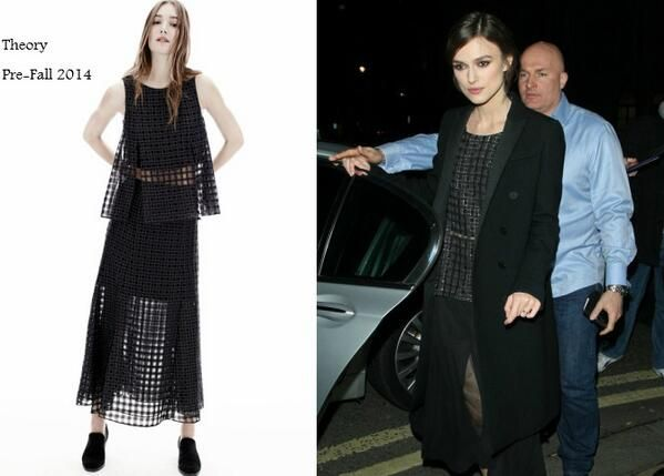 Keira Knightley In Theory shirt & Gucci coat - The Graham Norton Show. Re-tweet and favorite it here: https://twitter.com/MyFashBlog/status/426132052031700993/photo/1
