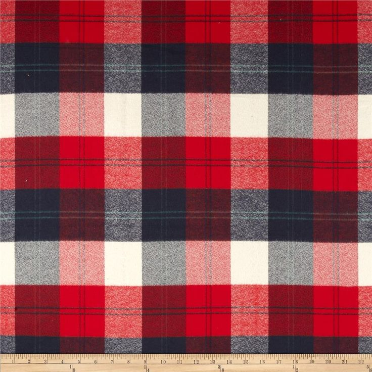 Designed for Robert Kaufman Fabrics, this soft double napped (brushed on both sides) medium weight (6.4 oz per square yard) flannel is perfect for shirts, loungewear and more! Features a yarn dyed plaid of navy, red and ivory. Remember to allow extra yardage for pattern matching.