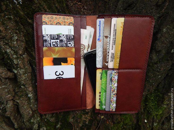 Как изготовить длинный бумажник из кожи своими руками - Ярмарка Мастеров - ручная работа, handmade