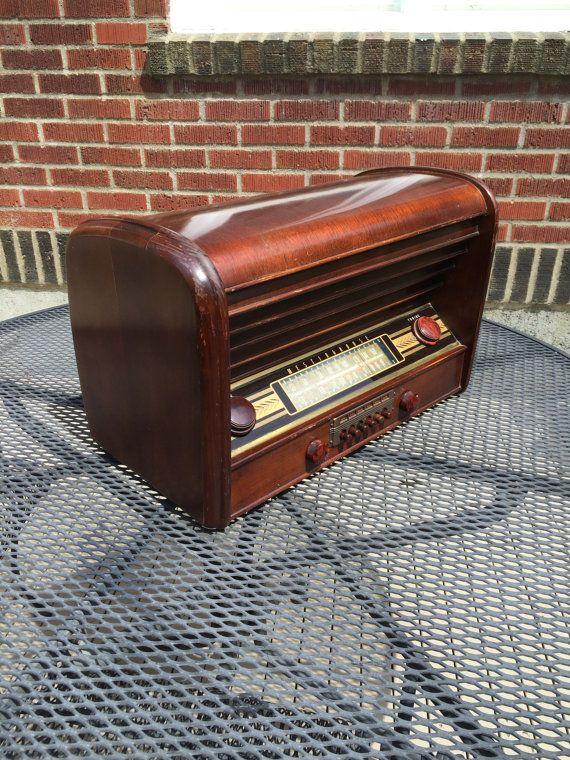 1946 Westinghouse AM Shortwave Radio, Elec Restored, Mid
