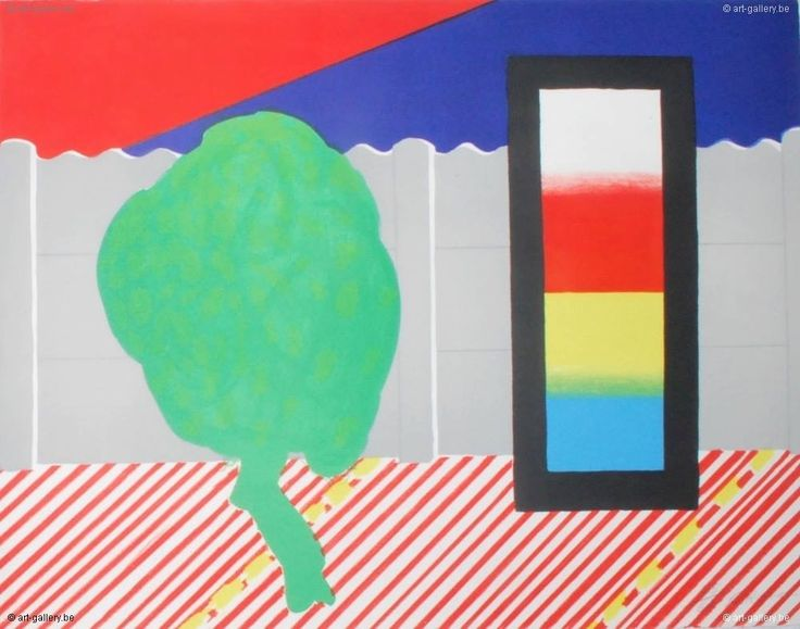 ROGER RAVEEL Muurtje, boompje en de drie primarie kleuren