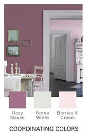 glidden paint rosy mauve used in guest bathroom
