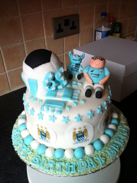Manchester City cake made by me for my best friends dad's birthday