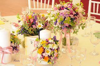 Creatii florale - Flori, forme si culori: Nunta de vara