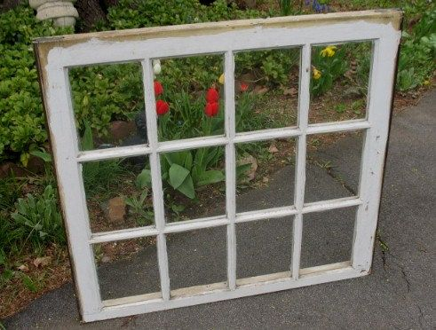 antique vintage window sash pane picture frame 12 pane