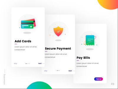 Onboarding - Daily UI:: #023
