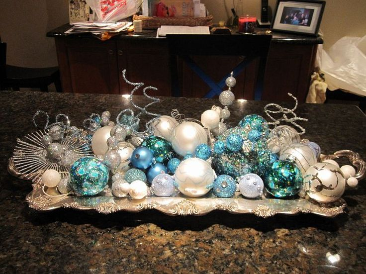 Holiday activity-decorated these clear and colored balls with sparkly stuff for Chestnut Hill Holiday House Tour- easy!