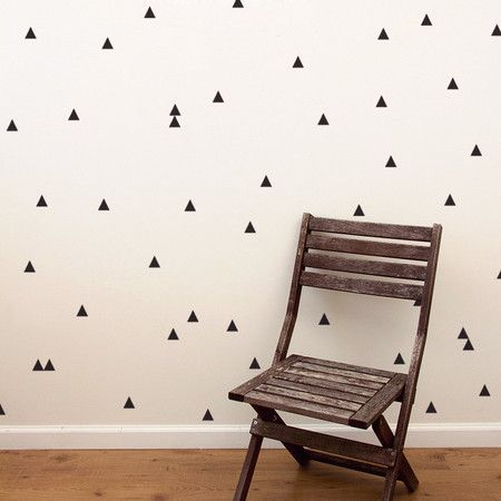 Adesivo de parede Kit Padrão - Geométrico - Bolinhas Triângulos Cruzes Sinal de Mais