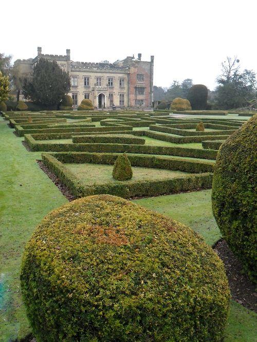Ornamental gardens at Elvaston Castle, Derbyshire, England