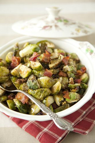 Brussels Sprouts with Hot Bacon Vinaigrette at PaulaDeen.com