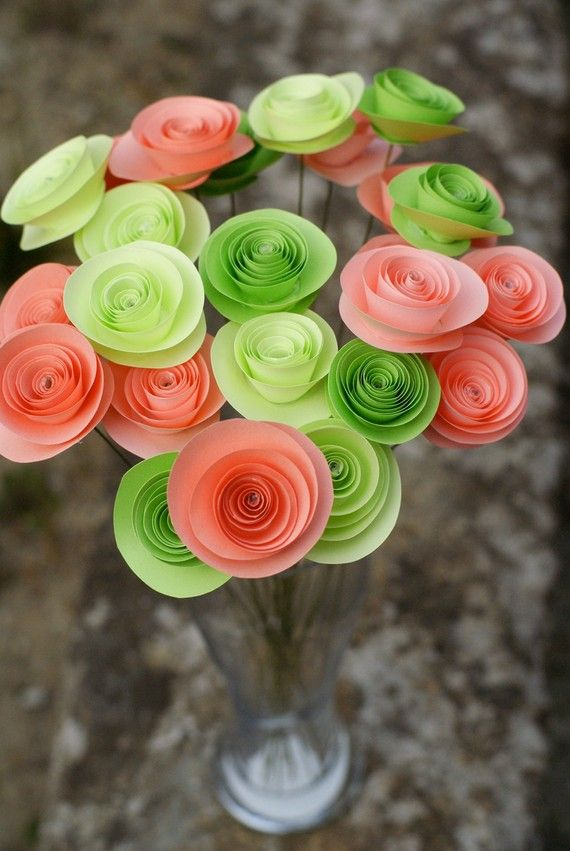 Love these paper flowers.