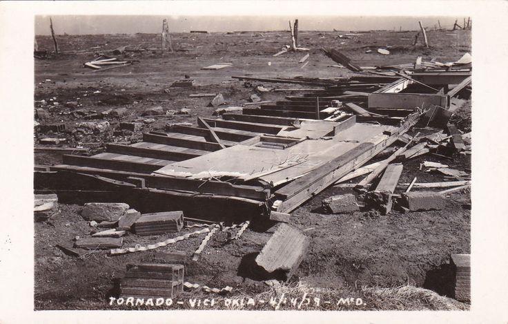 RP: VICI, Oklahoma , 1929 ; Tornado Damage