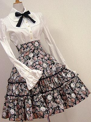 I think the high waist is my favorite lolita look   egl: Tutorial for a High-Waist lolita Skirt