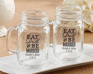 Personalized 16 Oz. Mason Jar Mug – Beach Tides – My Wedding Favors