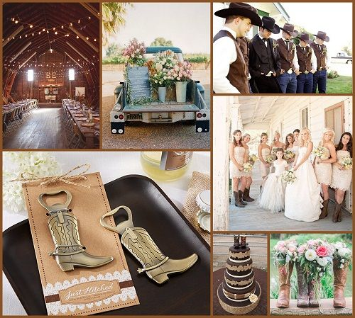 Cowboy Cowgirl Wedding Ideas: 17 Best Images About Western Wedding Ideas On Pinterest