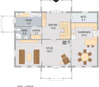 Et nytt hjem: bra planløsning
