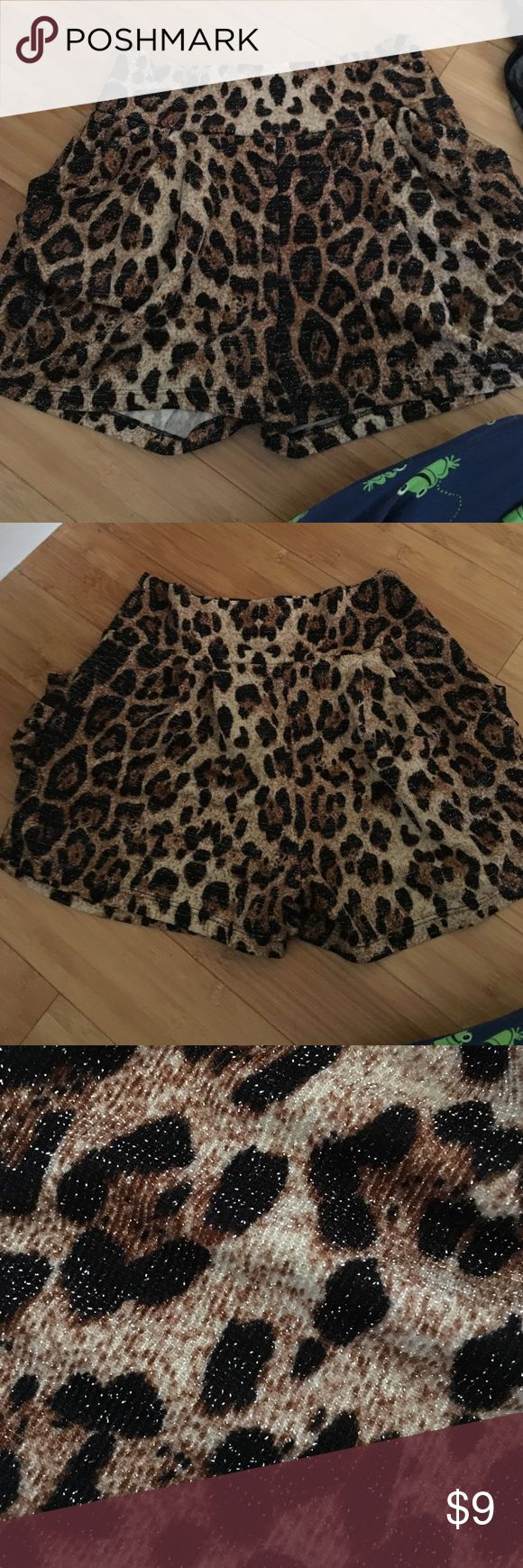 Leopard Print Shorts These shorts are elastic. Have pockets. Figure flattering. Shorts