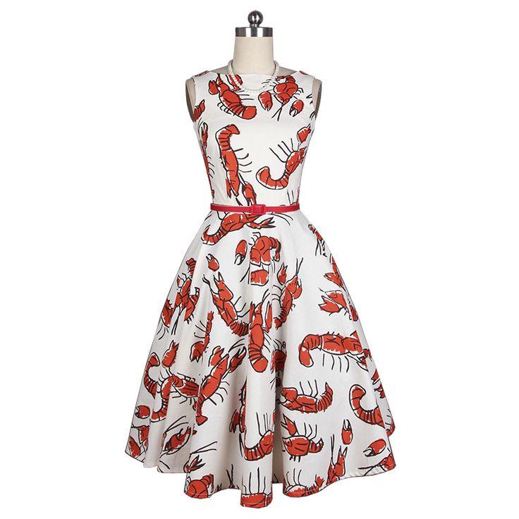 Новое прибытие красный омар печати хлопок faric платье материал тканикупить в магазине Ice-Beauty Craft StoreнаAliExpress