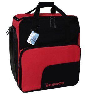 BRUBAKER 'Super Function' – Sac à chaussures de ski, Sac à dos ski, Sac casque – Noir / Rouge
